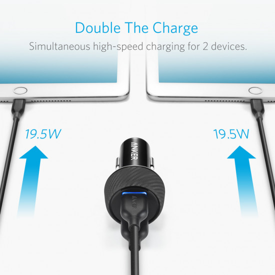 Anker PowerDrive Speed 2 Car Charger QC3.0X2