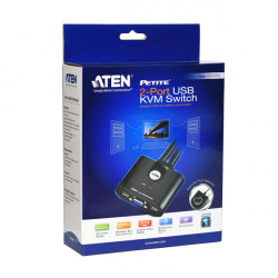 ATEN PETITE 2 PORT VGA USB KVM SWITCH CS22U