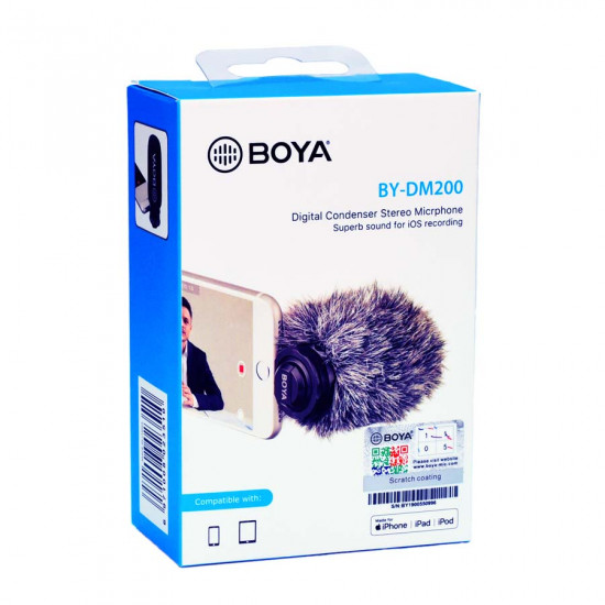BOYA PLUG-IN MIC (LIGHTNING) BY-DM200