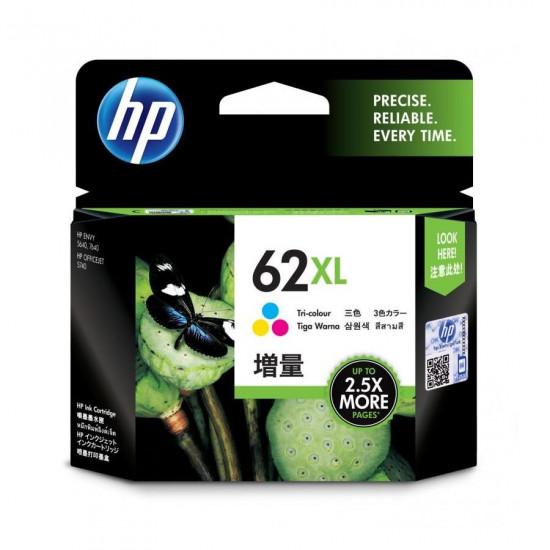 HP C2P07AA Color Ink Cartridge (62XL)