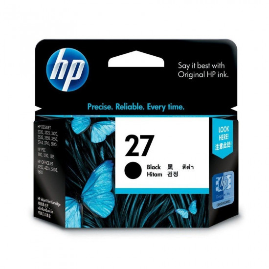 HP C8727AA Black Ink Cartridge (27)