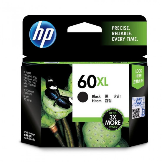 HP CC641WA Black Ink Cartridge (60XL)