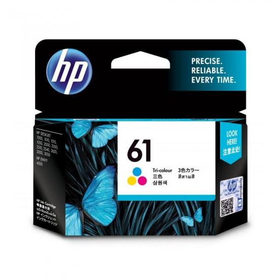 HP CH562WA Color Ink Cartridge (61)