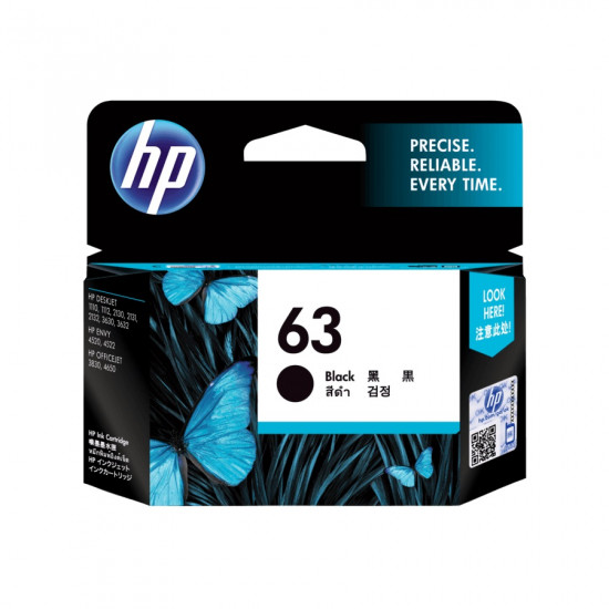 HP F6U62AA Black Ink Cartridge (63)