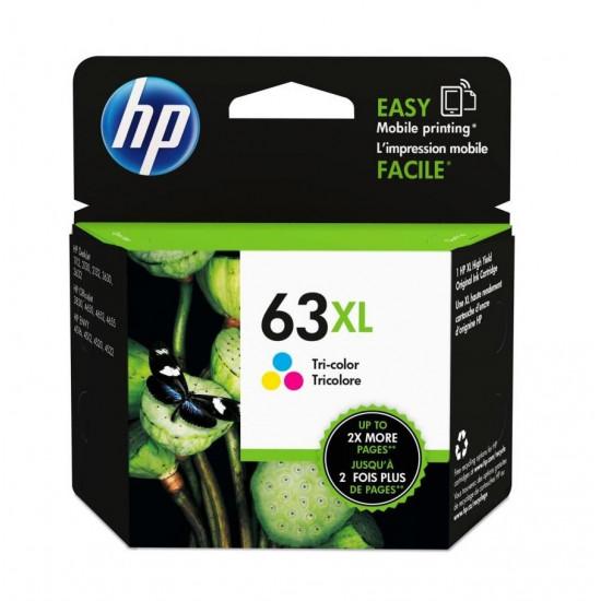 HP F6U63AA Color Ink Cartridge (63XL)