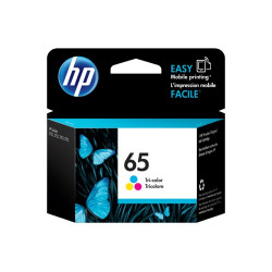 HP N9K01AA Color Ink Cartridge (65)
