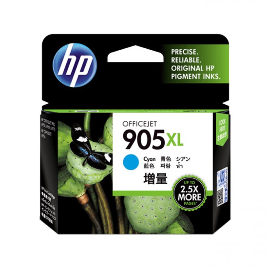 HP T6M05AA Cyan Ink Cartridge (905XL)