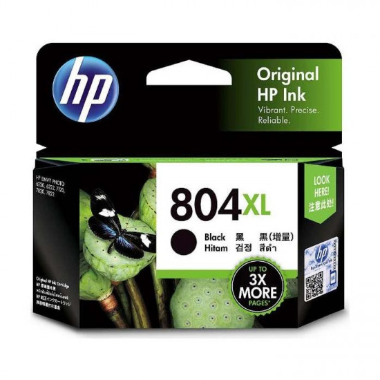 HP T6N12AA Black Ink Cartridge (804XL)