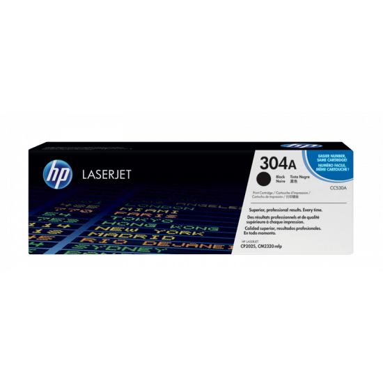 HP CC530A Black Toner Cartridge (304A)