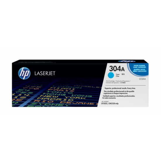HP CC531A Cyan Toner Cartridge (304A)
