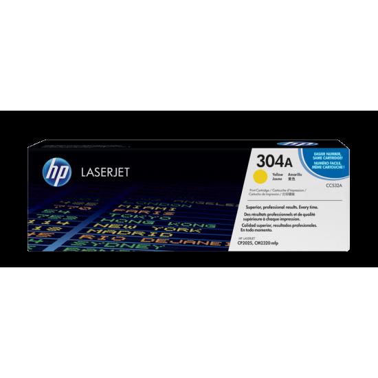 HP CC532A Yellow Toner Cartridge (304A)
