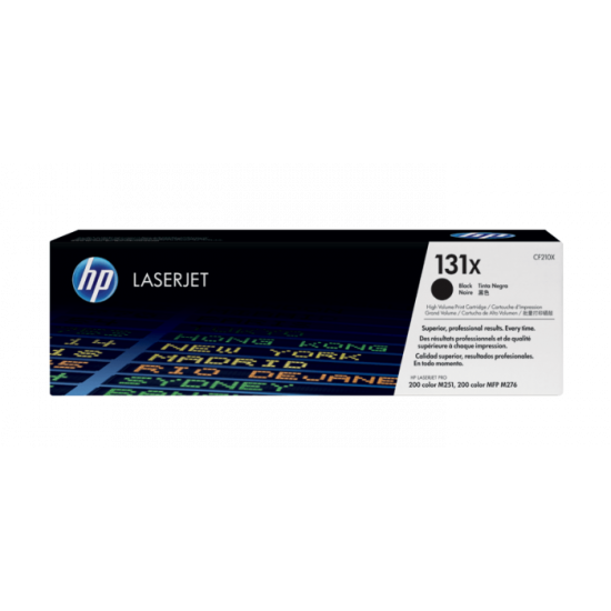 HP CF210X Black Toner Cartridge (131X)