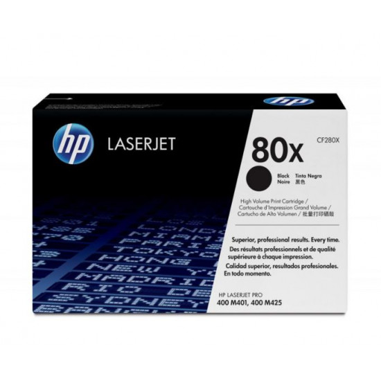 HP CF280X Black Toner Cartridge (80X)