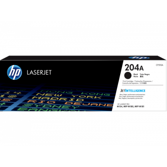 HP CF510A Black Toner Cartridge (204A)