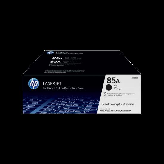 HP CE285AD Black Toner Cartridge Dual Pack (85A)