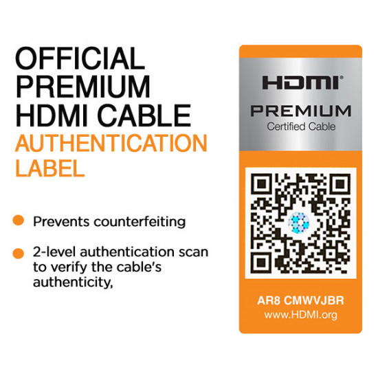 IOGEAR GHDC2001 Certified Premium 4K HDMI 2.0 Cable 1m