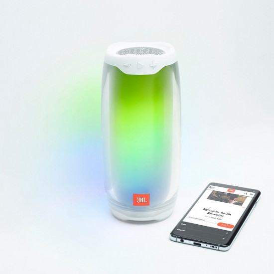 JBL Pulse 4 Bluetooth Speaker - White