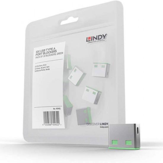 LINDY USB PORT BLOCKER (without key) - 10 LOCKS