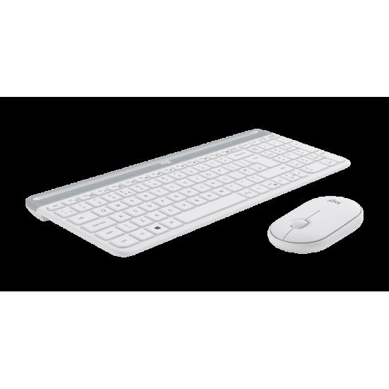 Logitech MK470 Slim Wireless Combo - White