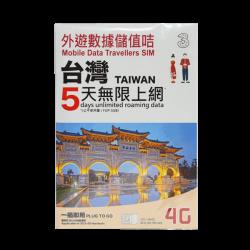 Taiwan 5 Days Prepaid Sim Card