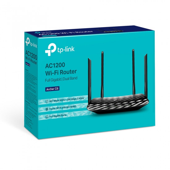 TP-LINK Archer C6 AC1200 WiFi Router