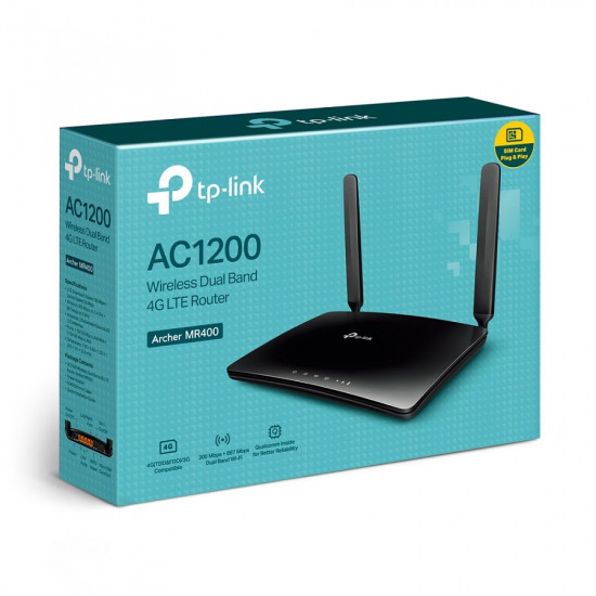 TP-LINK Archer MR400 AC1200 4G LTE Router