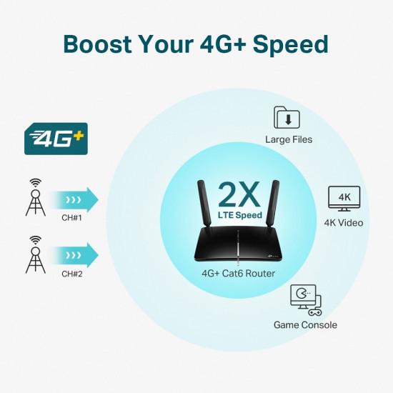TP-LINK Archer MR600 AC1200 4G+ Cat6 LTE Router
