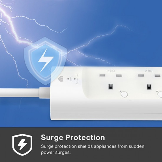 TP-LINK Smart WiFi Power Strip 3-Outlets KP303
