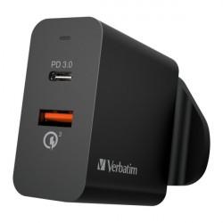 Verbatim Dual Port 36W PD & QC 3.0 USB Charger