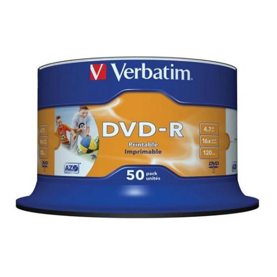 Verbatim DVD-R Inkjet Printable 50PK